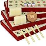 Numbered Tiles and Wooden Case Mahjong Set - Classic Set - Standard