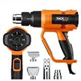 Professional Heat Gun 1600W 122?~1112?(50?~600?) - Adjustable 7 Heat Levels with 3 Temp-settings, 4 Nozzle Attachments, Unique Cooling Mode, Soft Rubbrized Handle(Working Time Over 500 Hrs) - HGP73AC (Tamaño: HGP73AC)