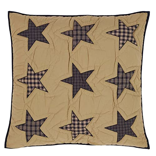 Teton Star Primitive Country Patchwork Quilted Euro Sham 26 x 26 by Ashton & Willow VHC Brands