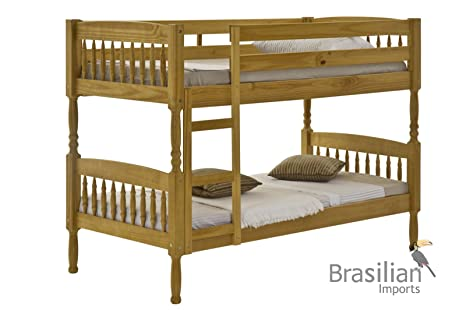 Milano 2ft6 Short Solid Pine Single Bunk bed Frame Only by Verona Design