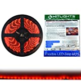 HitLights Luma5 Series (SMD 3528) Weatherproof Red LED Light Strip, 300 LEDs, 5 Meter (16.4 ft) spool, 12VDC Input (Adapter not included)