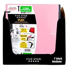 Five Star Flex Hybrid NoteBinder, 1-Inch, Pink (72001)