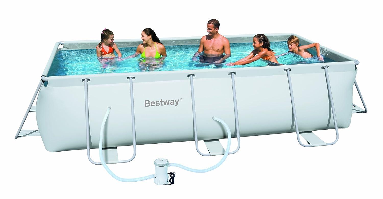 Attrezzi giardinaggio piscina con telaio esterno fuori for Piscina montabile