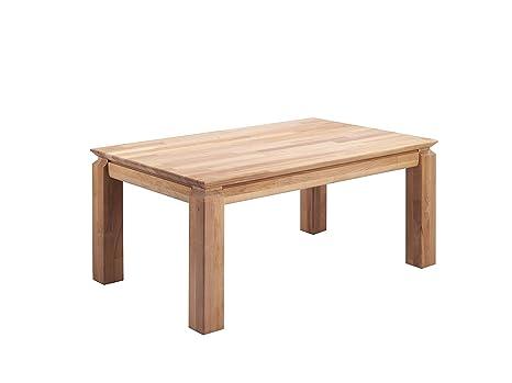 Cavadore Couchtisch Patrick / moderner, niedriger Holztisch in Parkettoptik / Eichenholz natur geölt / 105 x 64,5 x 45,5 cm (L x B x H)