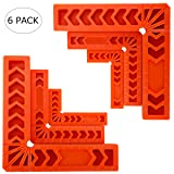 HighFree 90 Degree Positioning Squares Clamping Square Angle Square Mini Corner Clamp Plastic Woodworking Tool for Picture Frames Boxes Cabinets or Drawers Set of 6(3 4 6 inch)