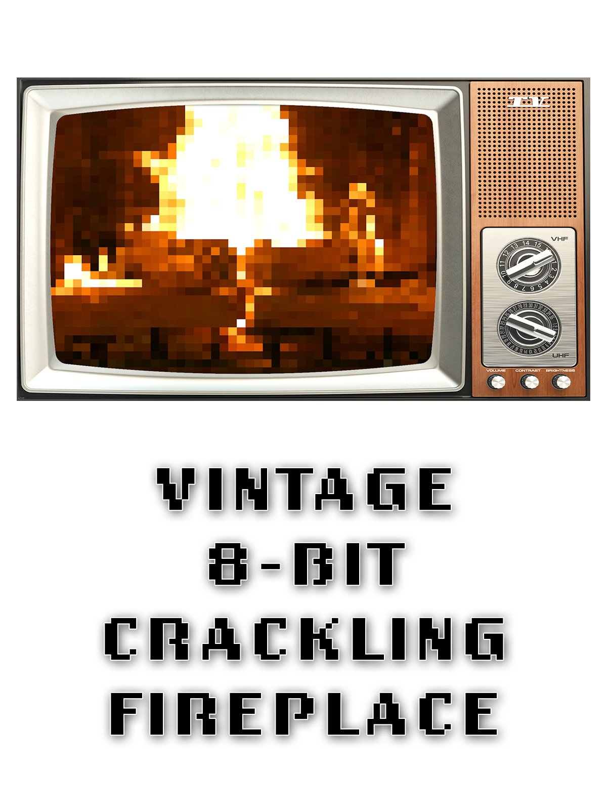 Vintage 8 Bit Crackling Fireplace