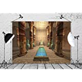 BELECO 10x6.5ft Egypt Backdrop Egyptian Temple Ancient Temple to The Egyptian God Anubis Tomb Phtography Backdrop for Party Decoration Adult Game Birthday Photoshoot Photo Background Props (Color: L-0013, Tamaño: 10x6.5FT)