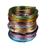 PandaHall Elite 10 Rolls Aluminum Craft Wire 20 Guage Flexible Artistic Floral Jewelry Beading Wire 10 Colors for DIY Jewely Craft Making Each Roll 65 Feet (Color: 10 Colors- 65 Feet 1, Tamaño: 20 Guage (0.8mm))