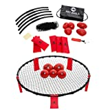 HitBall Game | Perfect Outdoor Game | 5 Balls + Net + Glowing Stickers + Pump