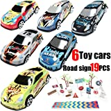 Hotwheels Die Cast Metal Toy Cars Alloy- Traffic Light-Road Signs for Kids Mini Model Construction and Raced for Toddlers Boy Birthday Gift Set,Learning and Education Toy,Cake Toppers Stocking Stuffer