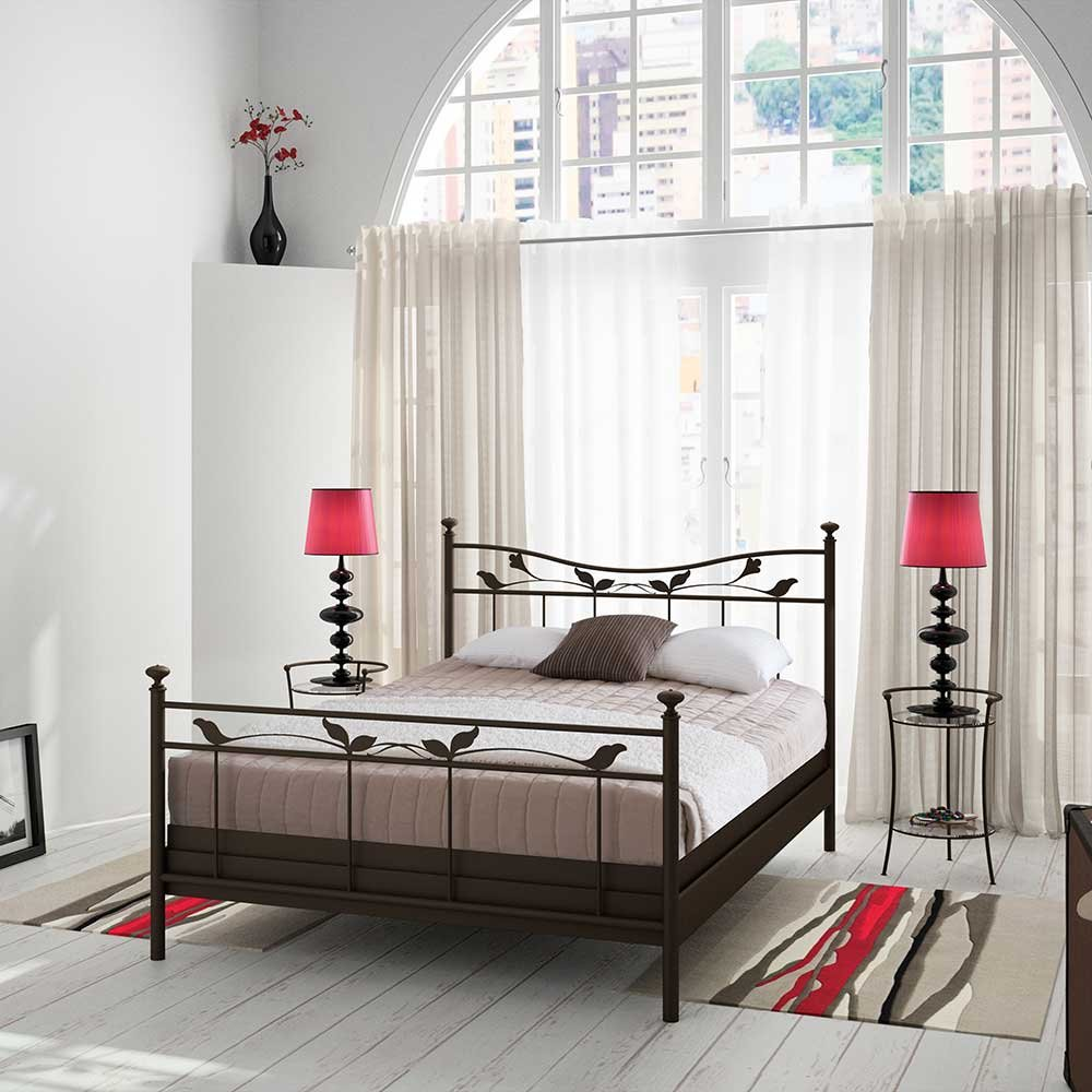 Bett im Landhausstil Metall Breite 148 cm Liegefläche 140×200 Pharao24 online bestellen