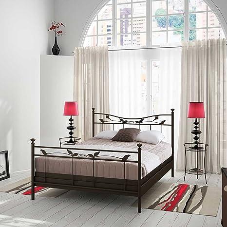 Bett im Landhausstil Metall Breite 148 cm Liegefläche 140x200 Pharao24