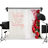 Kate 10x6.5ft/3m(W) x2m(H) Wedding Backdrop Flowers Photo Backdrops Red Rose Floral Background Wedding Photography Backgrounds Photo Photography Studio Props (Color: C4237, Tamaño: 10x6.5ft)