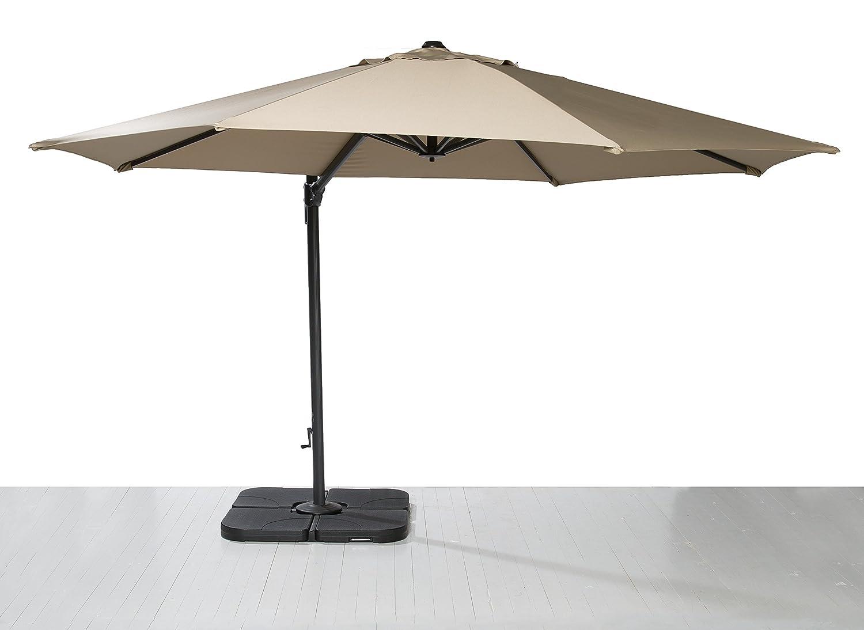 Ampelschirm Sonnenschirm Gartenschirm Kurbelschirm Terrassenschirm braun 350 cm kaufen