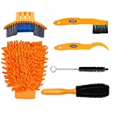 Oumers 6pcs Bike Bicycle Clean Brush Kit/Cleaning Tools for Bike Chain/Crank/Tire/Sprocket Cycling Corner Stain Dirt Clean, Fit All Bike (Color: Bike Bicycle Clean Brush Kit)