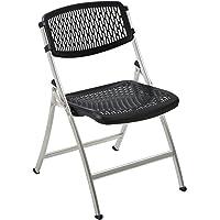 4-Pack Flex One Folding Chair (Black/Silver)