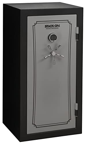 Stack-On TD14-28-SB-E-S Fire Resistant Waterproof Fully Convertible Total Defense Safe with Electronic Lock, 28 Guns