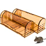 CaptSure 2019 Upgraded Humane Smart Mouse Trap, Kids/Pet Safe, Easy to Set, for Indoor/Outdoor, Reusable, for Small Rodents/Voles/Hamsters/Moles. Best Catcher That Works. 2 Pack (Small) (Tamaño: Small)