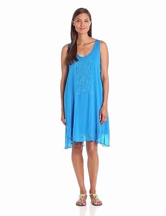 Johnny Was Women's Ravi Dress, Cobalt, Small