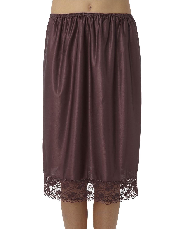 Frauen/Ladies Amethyst (braun) Unterwäsche Unterrock Hälfte Slips mit Spitze trimmen, 100 % Polyester, verschiedene Größen jetzt kaufen