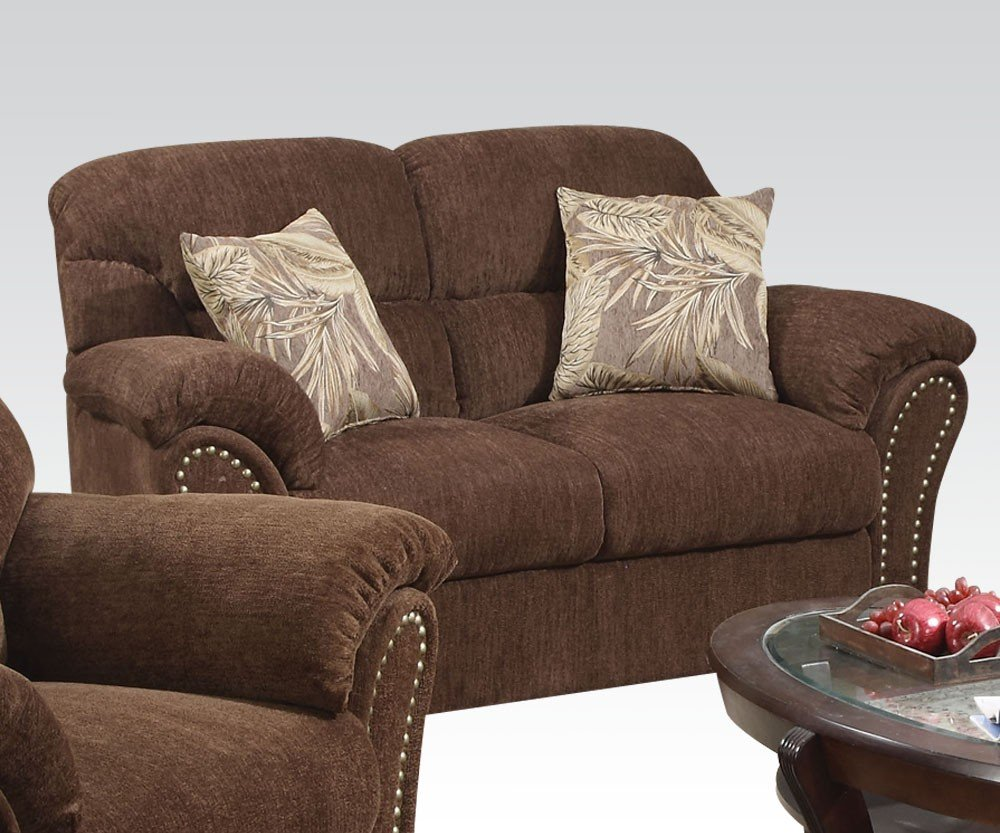 Patricia Loveseat in Dark Brown by Acme Furniture