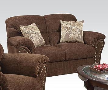Patricia Loveseat in Dark Brown by Acme Furniture