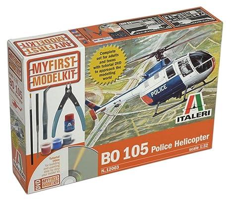 Italeri - I12003 - Maquette - Aviation - Coffret Bo105 Police