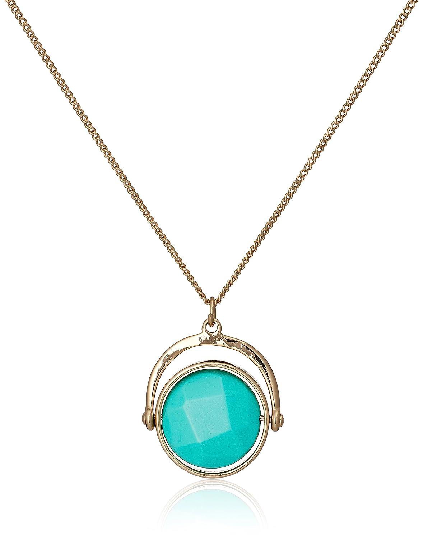 Amazon.co.jp: [オレリア] Orelia スピニングセミプレシャスネックレスターコイズブルー ORE8052: ジュエリー通販