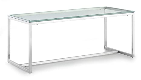 Zuo Sprocket Coffee Table, Clear Glass