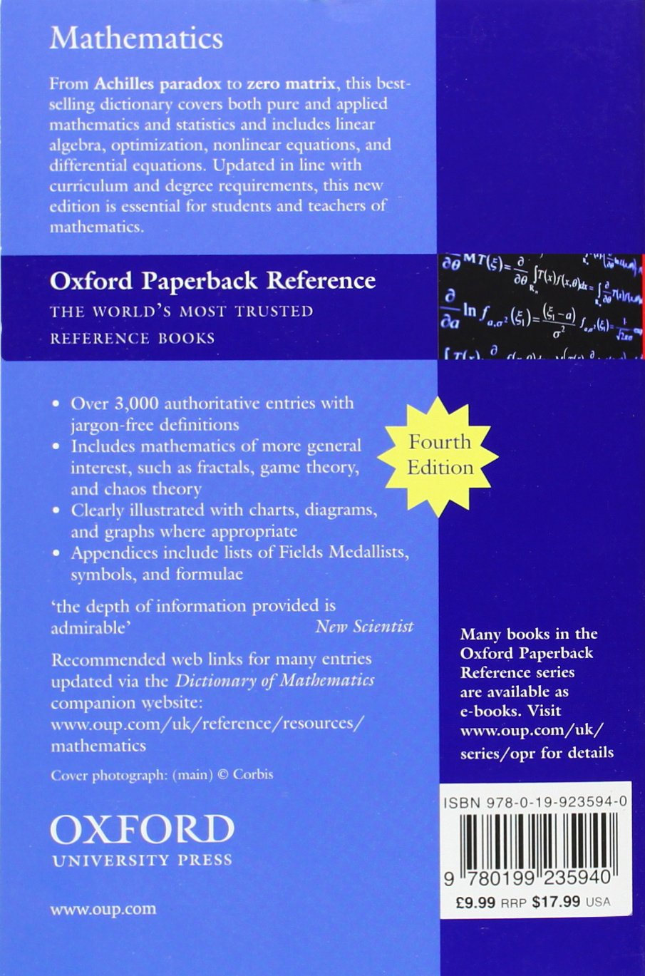 Buy The Concise Oxford Dictionary Of Mathematics (oxford Quick Reference)  Book Online At Low Prices In India  The Concise Oxford Dictionary Of  Mathematics