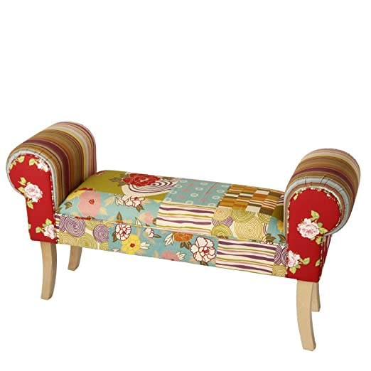 Brandani Woodstock - Sofá biplaza de algodón, multicolor