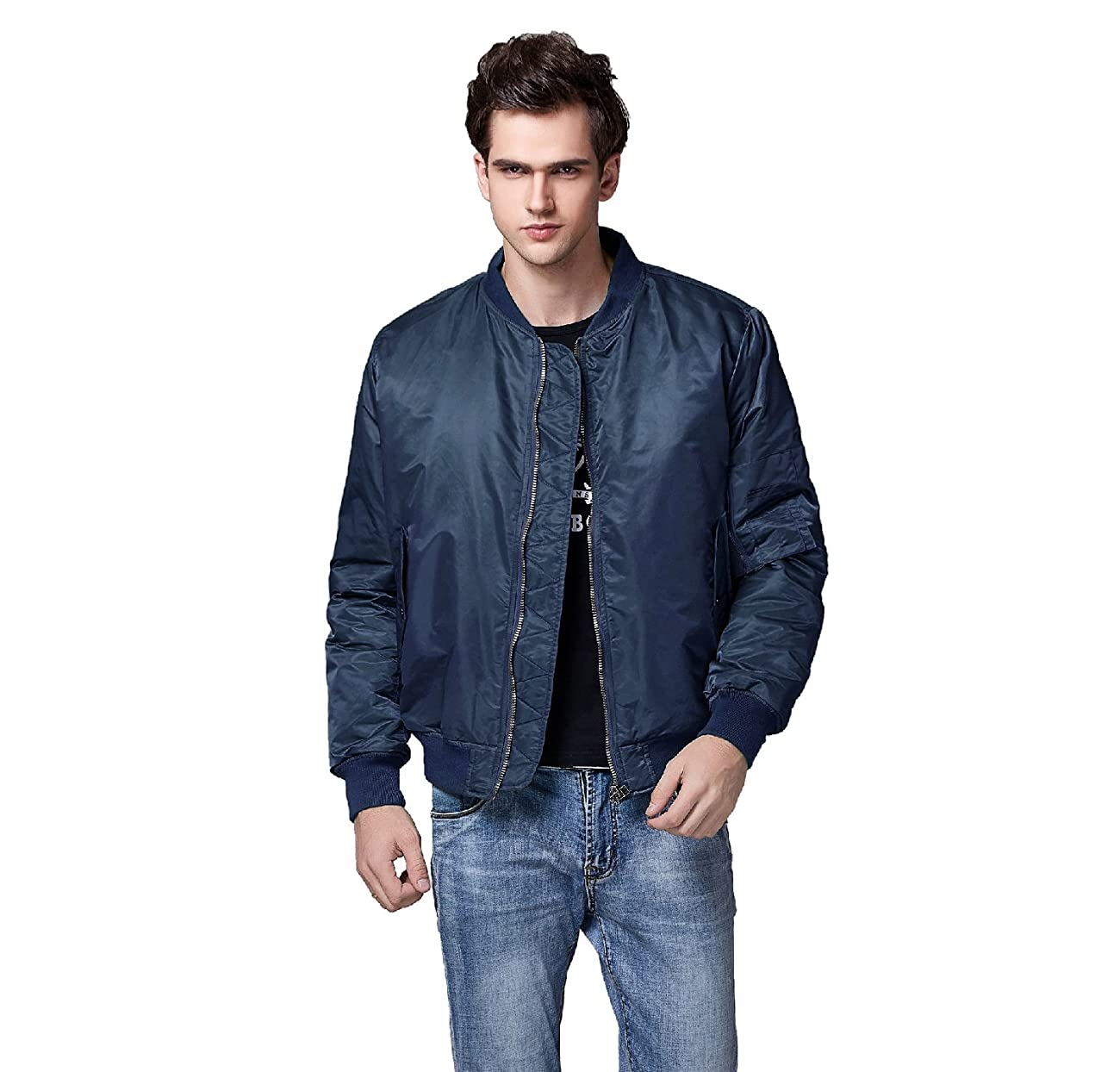 Neo-wows Men's Bomber Flight Jacket Thick 0