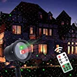Twinkle Star Christmas Laser Lights Projector with Remote Control, Moving Red Green Star-Like Lights Outdoor Led Landscape Spotlight for Holiday Garden Indoor Christmas Party Decoration (Color: Multicolor)