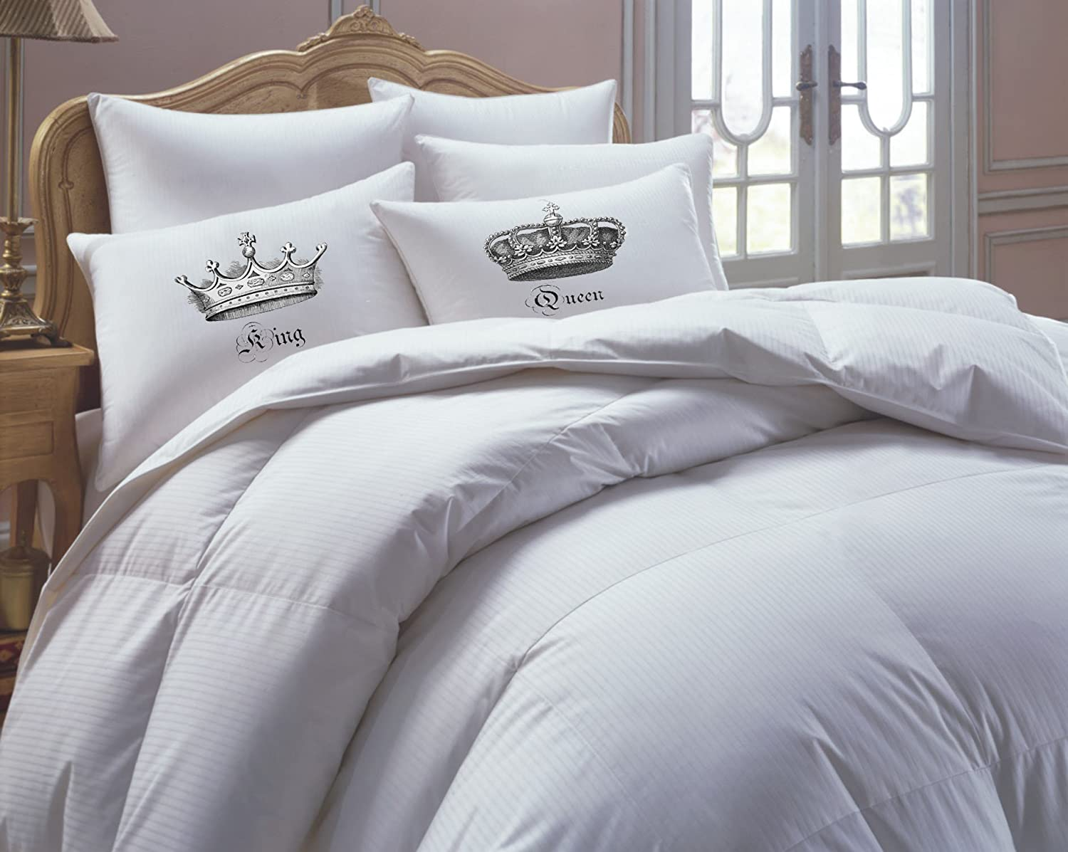 King and Queen Pillowcases, Couples Gift, His Hers Pillowcase Set, Couples Pillowcase Set, King and Queen Pillowcase Set- NEW
