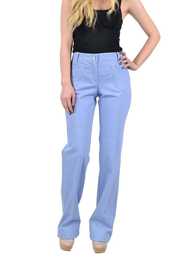 Dolce Gabbana Women's Denim Straight Jeans Baby Blue