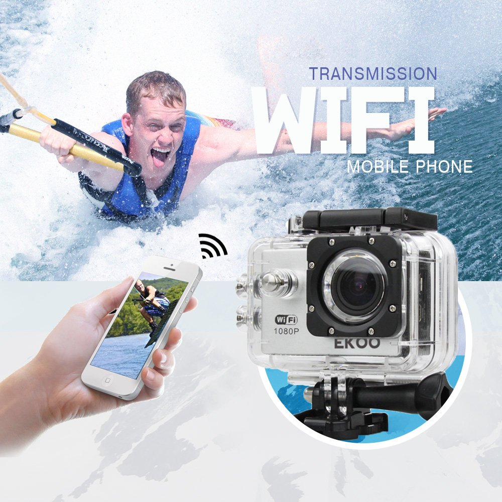 EKOO® E3 SJ4000 WIFI Wireless Waterproof HD 1080P Sports Action Video Camera with Mini LCD