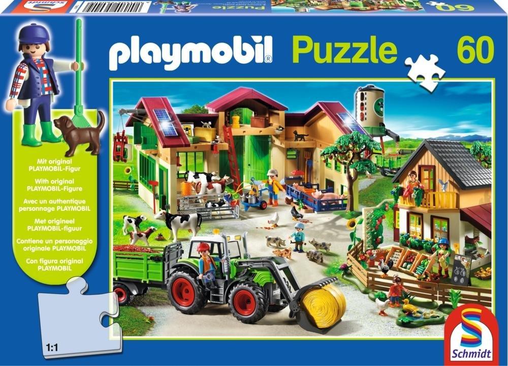 Schmidt Spiele 56040 – Playmobil, Auf dem Bauernhof mit Original Figur, 60 Teile bestellen
