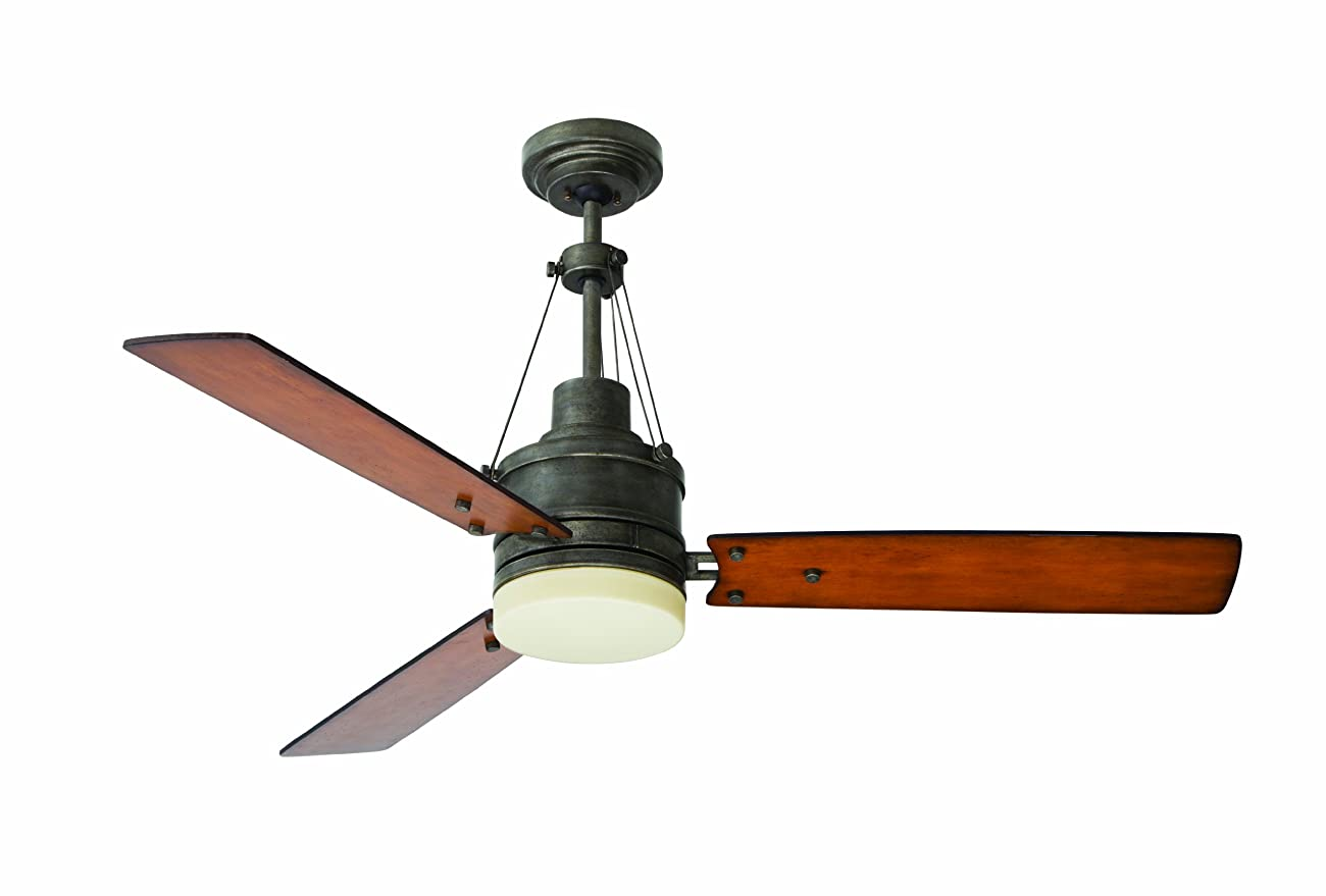 Emerson Ceiling Fans CF205VS Highpointe Modern Ceiling Fan With Light And Remote, 54-Inch Blades, Vintage Steel Finish 0