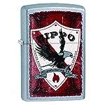 Zippo Vintage Shield Pocket Lighter, Street Chrome