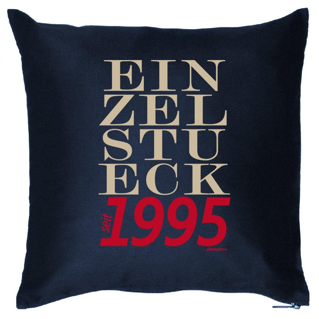 Couch Kissen mit Jahrgang zum Geburtstag – Einzelstück seit 1995 – Sofakissen Wendekissen mit Spruch und Humor jetzt kaufen