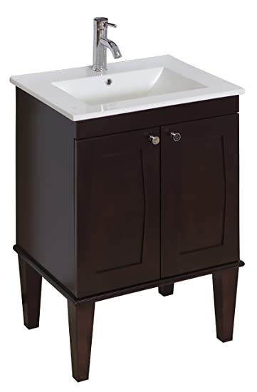 32-in. W X 18-in. D Transitional Birch Wood-Veneer Vanity Base Only In Antique Walnut