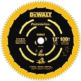 DEWALT DW72100PT 12-Inch 100T Ultra-Smooth Crosscutting Saw Blade (Tamaño: 1