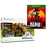 Xbox One Red Dead Minecraft Creators Bonus Bundle: Xbox One S 1TB Minecraft Creators Console, White Wireless Controller and Red Dead Redemption 2 Game