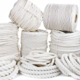 GOLBERG Twisted 100% Natural Cotton Rope - White Cotton Rope - (1.25 Inch x 600 Feet) (Tamaño: 1.25 inch x 600 feet)