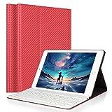 iPad Air/Air 2 Keyboard Case, LUCKYDIY Ultra Slim Stand Cover+Magnetical Detachable Wireless Bluetooth Keyboard for Apple iPad Air1/Air2 (Color: Coolred, Tamaño: iPad Air1/Air2)