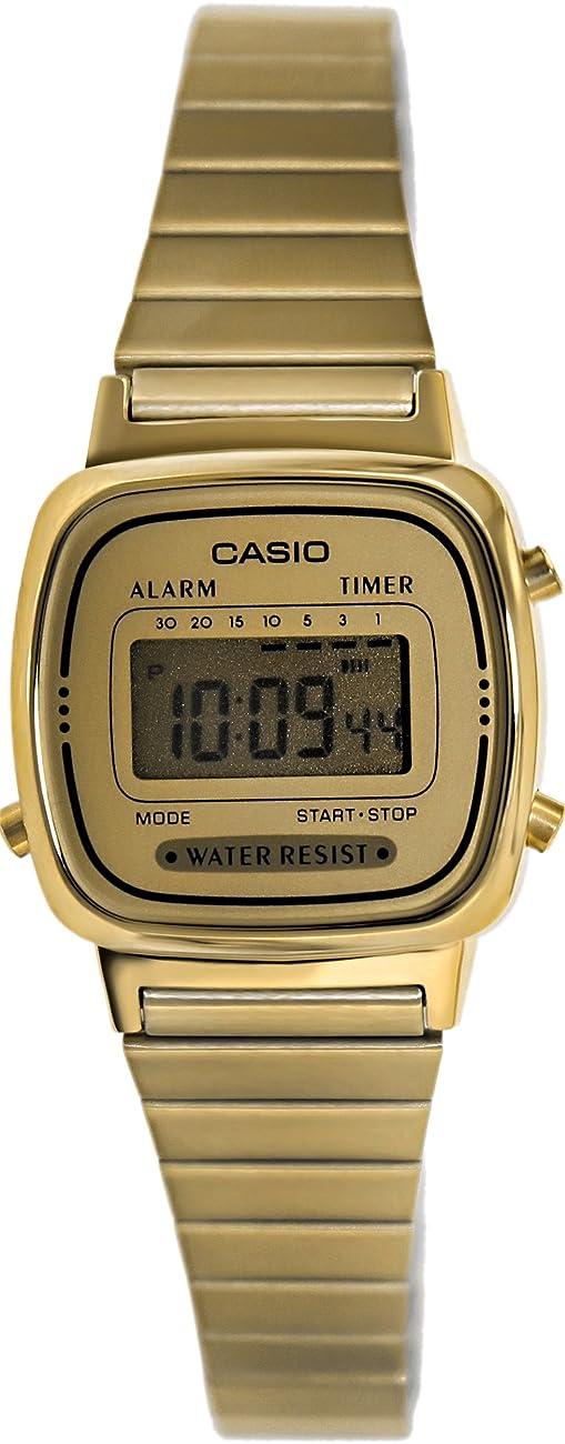 Casio Women's LA670WGA-9 Gold Stainless-Steel Quartz Watch with Digital Dial 0