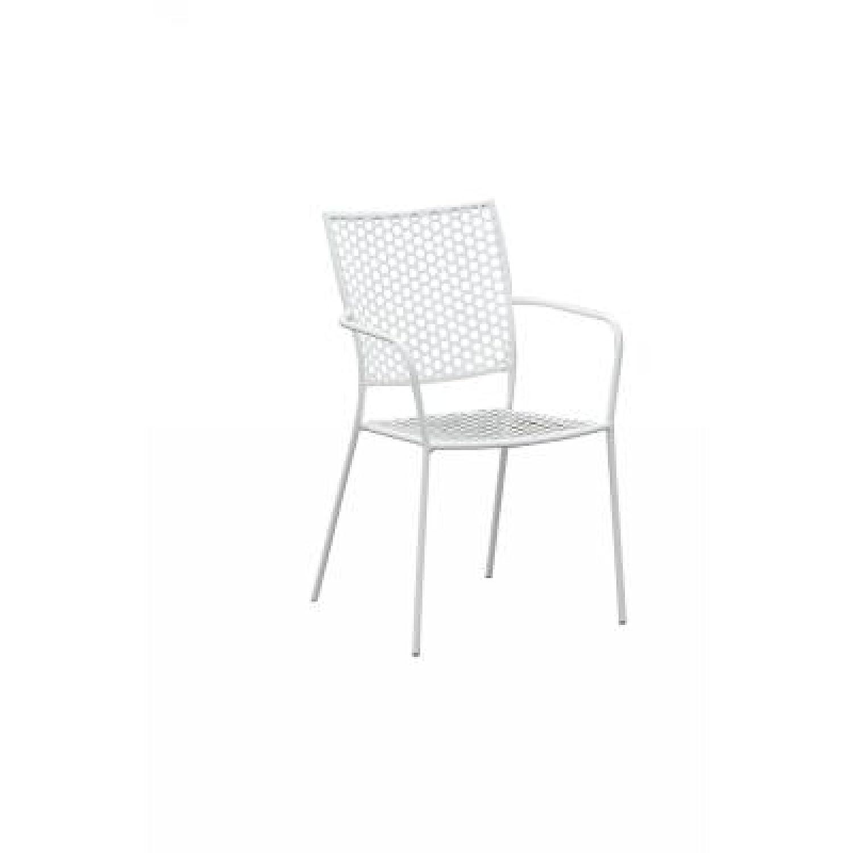 Inko Eisen Sessel Soho, stapelbar, weiß jetzt bestellen
