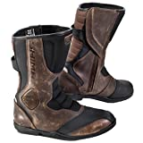 SHIMA STRADA VINTAGE, Classic Retro Sport Leather Motorcycle Boots (43, Brown) (Color: Brown, Tamaño: 43)