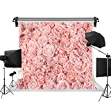 Kate 10x10ft/3x3m Wedding Background Flowers Photo Backdrops Pink Rose Floral Backdrop Wedding Photography Backgrounds Photo Photography Studio Props (Color: B4087, Tamaño: 10x10ft)