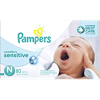 Pampers Swaddlers Sensitive Newborn Diapers,80 Count